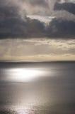 Cielo del mare calmo Immagini Stock