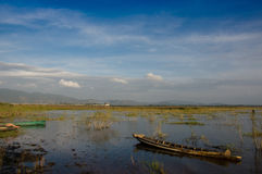 Cielo del mare della barca fotografia stock