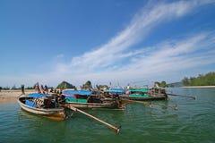 Cielo del mare della barca della Tailandia Fotografia Stock
