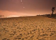 Cielo del mare della sabbia di paesaggio Fotografie Stock Libere da Diritti