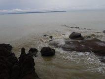 Cielo del mare di mattina Fotografia Stock