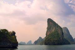 Cielo del mare di Phangnga Tailandia Fotografia Stock Libera da Diritti