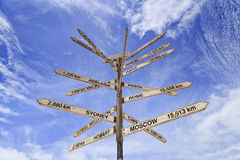 Cielo del palo di distanza del confine del SA WA Fotografia Stock