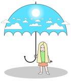 Cielo del paraguas Fotos de archivo libres de regalías