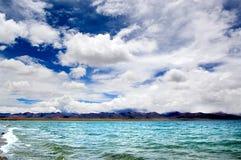 Cielo del plateau del Tibet Fotografia Stock Libera da Diritti