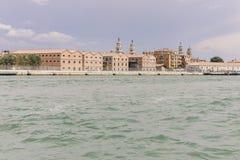 Cielo del puerto de Venezia foto de archivo