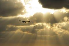Cielo del raggio di Sun Immagine Stock