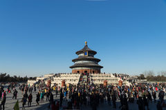 Cielo del templo de Pekín imagenes de archivo
