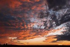 Cielo del tramonto Immagini Stock