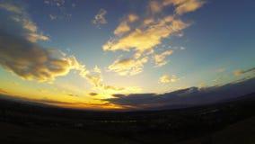 cielo del tramonto di lasso di tempo di pano 360 stock footage