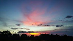 Cielo del verano de Alabama Fotografía de archivo