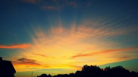 Cielo del verano de Alabama Imagen de archivo