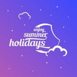 Cielo del verano del ejemplo con el texto del estilo stock de ilustración