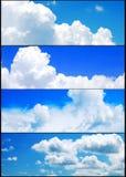 Cielo del verano y banderas de las nubes fijadas Fotografía de archivo libre de regalías