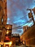 Cielo del vicolo di Chicago fotografie stock