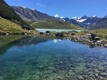 Cielo dell'acqua delle alpi del lago mountain Immagini Stock Libere da Diritti