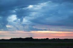 Cielo dell'aeroporto della città di Kaunas Immagine Stock