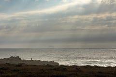 Cielo dell'oceano dell'annuvolamento fotografie stock