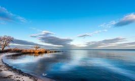 Cielo della baia di Chesapeake Fotografie Stock