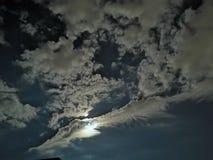 Cielo della luna fotografia stock