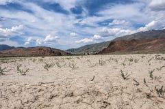 Cielo della montagna del deserto della steppa Fotografie Stock