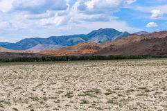 Cielo della montagna del deserto della steppa Fotografia Stock