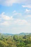 Cielo della natura dell'albero della montagna di paesaggio Fotografie Stock Libere da Diritti