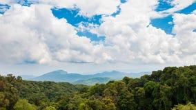 Cielo della nuvola sopra la foresta Immagine Stock Libera da Diritti