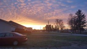 Cielo della primavera di mattina Fotografia Stock Libera da Diritti