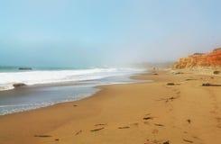 Cielo della sabbia di mare Immagini Stock