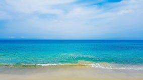Cielo della sabbia di mare fotografia stock