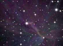 Cielo della stella di notte Fotografia Stock