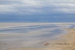 Cielo della tempesta alla spiaggia Fotografia Stock Libera da Diritti