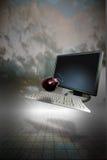 Cielo dello schermo di computer Fotografia Stock