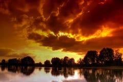 Cielo dello zolfo Fotografia Stock