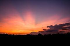 Cielo después de la puesta del sol Imagenes de archivo