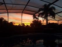 Cielo di alba di mattina immagini stock
