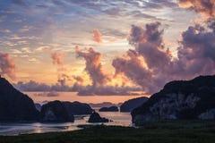 Cielo di alba di Samet Nangshe della Tailandia Fotografie Stock Libere da Diritti
