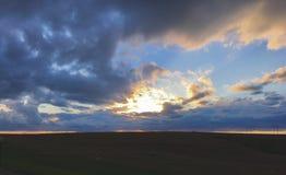 Cielo di Colorado su I-70 ad ovest Immagini Stock