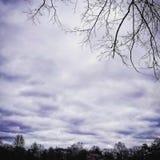 Cielo di crepuscolo fotografie stock libere da diritti