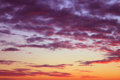 Cielo di crepuscolo Fotografia Stock