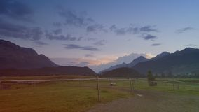 Cielo di Engadin Immagine Stock