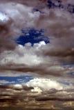 Cielo di giorno spaventoso Fotografie Stock Libere da Diritti