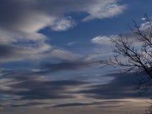 Cielo di inverno Fotografia Stock