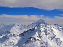 Cielo di inverno in alpi Fotografia Stock Libera da Diritti