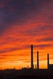 Cielo di Ireal su una fabbrica Fotografia Stock Libera da Diritti