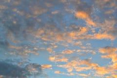Cielo di Krasnojarsk di sera fotografie stock libere da diritti