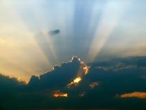 Cielo di luce solare Fotografia Stock