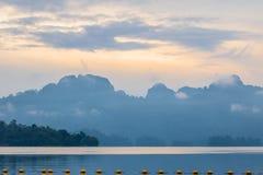 Cielo di mattina in laguna laterale Immagine Stock Libera da Diritti