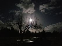 Cielo di mezzanotte fotografie stock libere da diritti